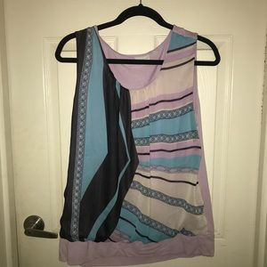 New York and Co Sleeveless multi-color top XL